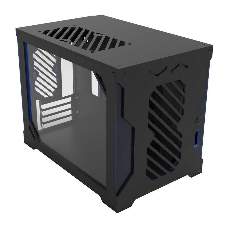 Kustom Pcs Parvum S2 5 Matte Black Frosted Blue Matx Case