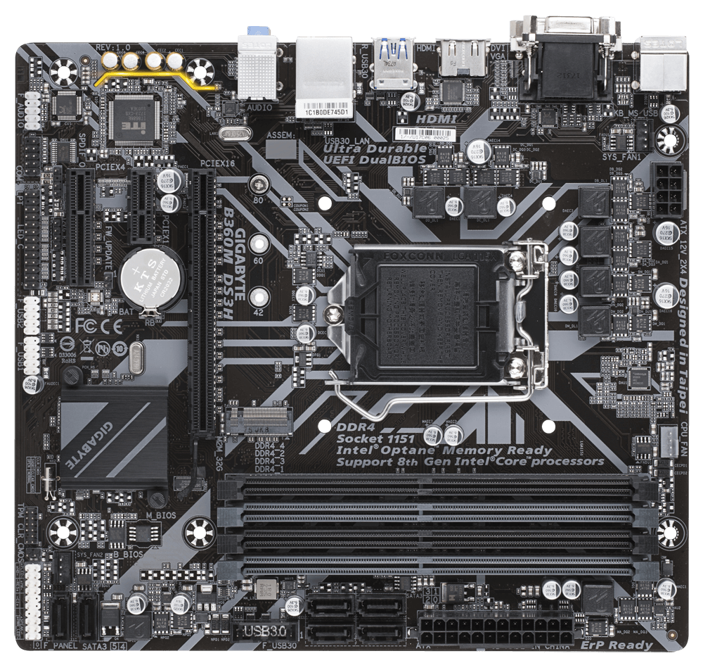 Gigabyte B360M DS3H MicroATX Motherboard