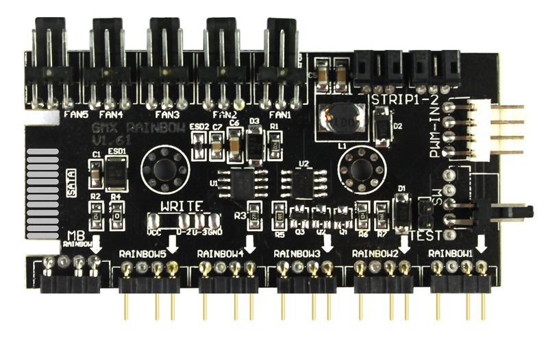 Spectrum ARGB Hub 3 pin with 3 pin power v1 61 Button Operation